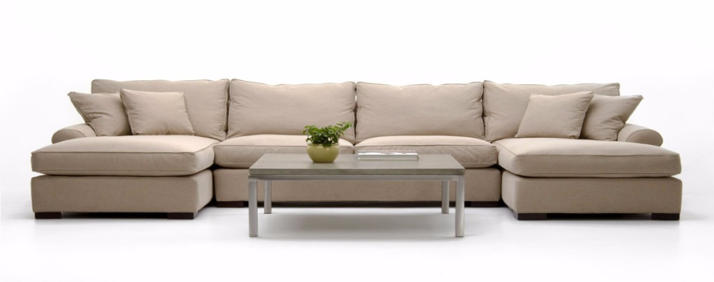 Adaptable lounge sofa leather with all the upholstered
